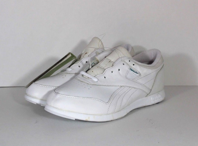 90s Reebok Leather Fitness Walkers Lace Up Spell Out Casual Sneakers Shoes  Womens Size 9.5 White d9edd1ede