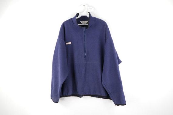 90s Columbia Spell Out Distressed Half Zip Fleece