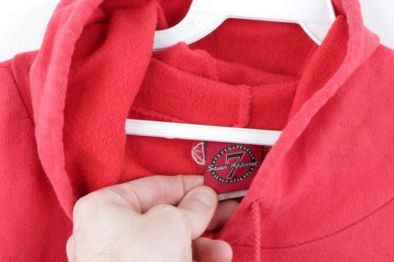 90s Streetwear Distressed Faded Blank Hoodie Swea… - image 4