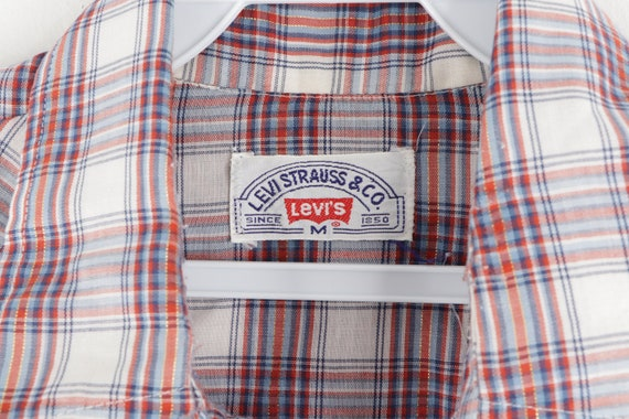 70s Levis Double Pocket Long Sleeve Pearl Snap We… - image 5