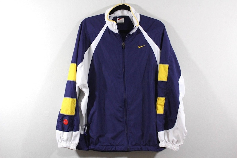 ca6107d32 90s Nike Full Zip Spell Out Color Block Outdoor Windbreaker | Etsy