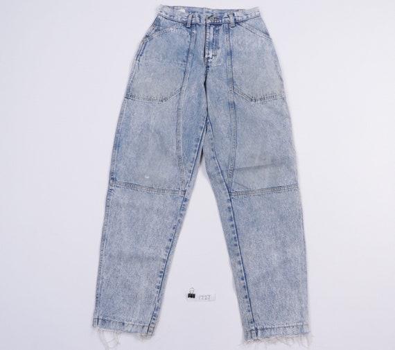80s Sasson Streetwear Distressed Tapered Leg Acid