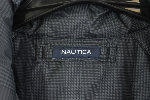 90s Nautica Spell Out Reversible Down Fill Puffer… - image 7