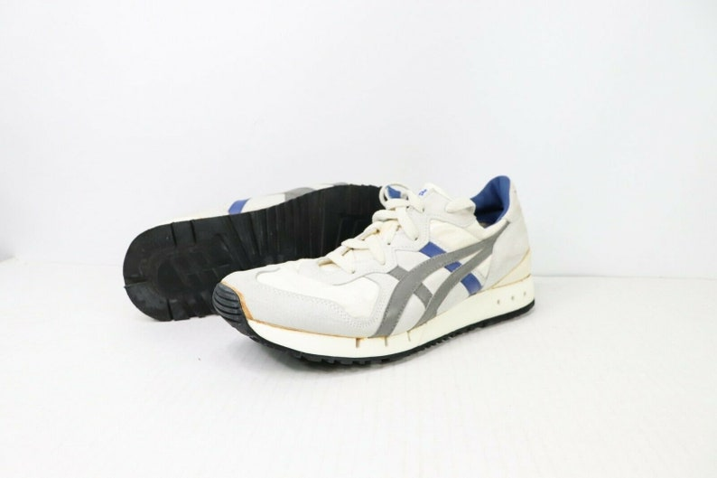 newest eaacb 31c3a 90s Asics Onitsuka Tiger Running Jogging Athletic Shoes Mens Size 9.5 Gray  Blue, Vintage Asics Tiger Shoes, 1990s Asics Shoes, Mens Sneakers