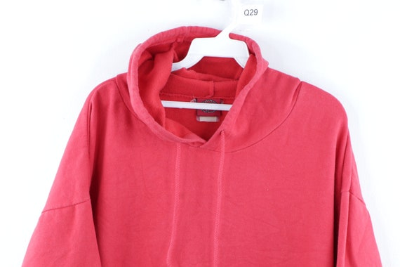 90s Streetwear Distressed Faded Blank Hoodie Swea… - image 2