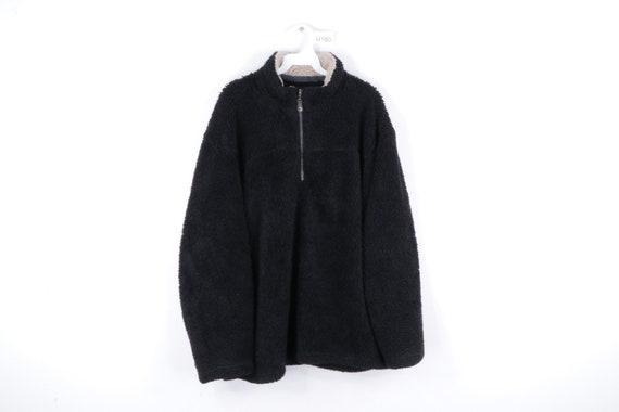90s Streetwear Deep Pile Fleece Half Zip Pullover