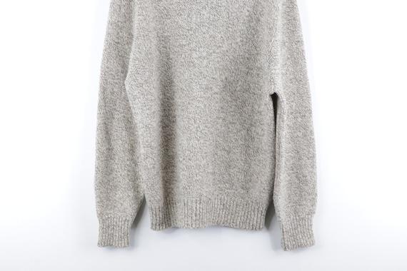 80s LL Bean Wool Full Zip Sweater Jacket Heather … - image 7