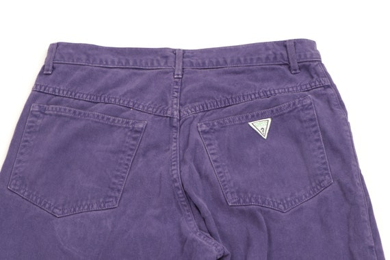 90s Guess Streetwear Spell Out Tapered Leg Jeans … - image 7