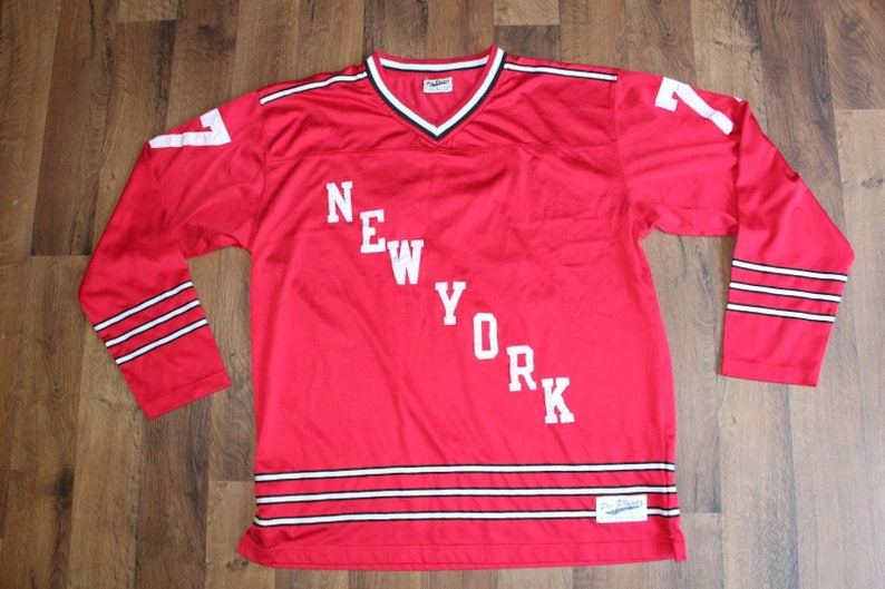 separation shoes 5e6b8 1ef6c 90s Pro Player New York Rangers Phil Esposito #77 NHL Hockey Jersey Mens  Large, Vintage New York Rangers Jersey, Vintage Hockey Jersey Red