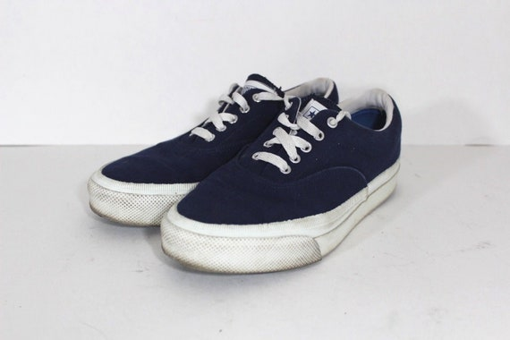 80s Converse All Star Made in the USA Canvas Sneakers Shoes Blue Mens 6.5 Womens 8.5, Vintage Converse Shoes, USA Converse Shoes, Vintage