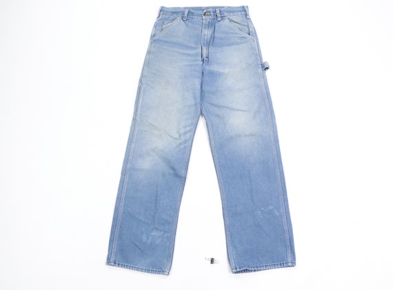 70s Sears Distressed Faded Carpenter Denim Jeans … - image 1