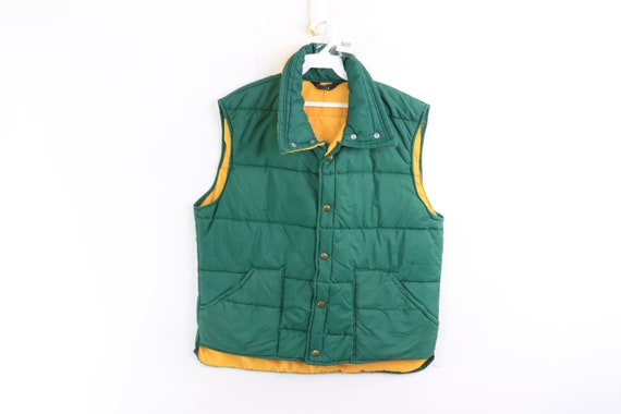 80s JCPenney Outdoor Hiking Button Up Puffer Vest