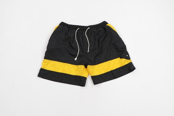 90s Streetwear Color Block Lined Nylon Soccer Shor