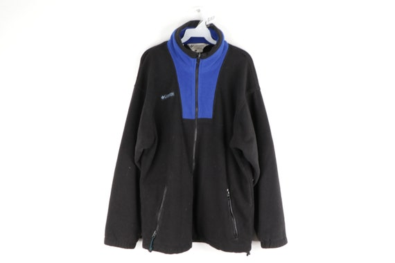 90s Columbia Spell Out Full Zip Fleece Hiking Jack