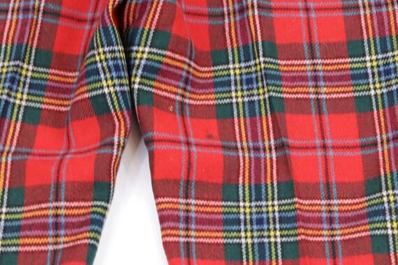 80s Streetwear Scottish Tartan Wool Plaid Golfing… - image 9