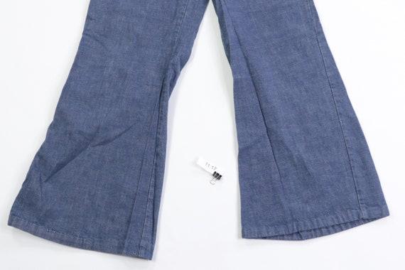 70s Distressed High Rise Flared Leg Bell Bottom J… - image 4