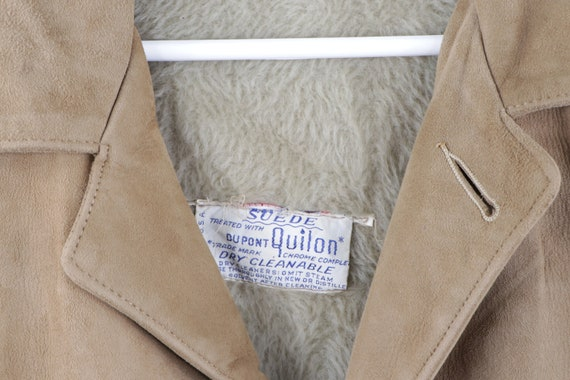 70s Rockabilly Lined DuPont Quilon Suede Leather … - image 6