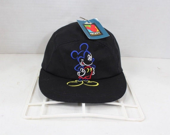 90s Mickey Unlimited Mickey Mouse 5 Panel Hat Cap Black  13d3410584df