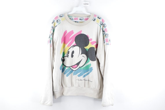 80s Disney All Over Mickey Mouse Abstract Reversib