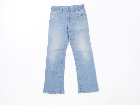 70s Lee MR Distressed Faded Flare Wide Leg Jeans U