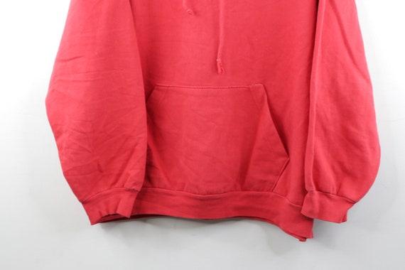 90s Streetwear Distressed Faded Blank Hoodie Swea… - image 3