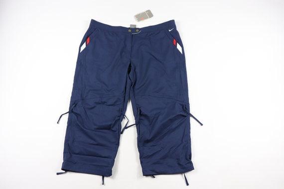 90s New Nike Tie Laces Striped Capri Pants Womens