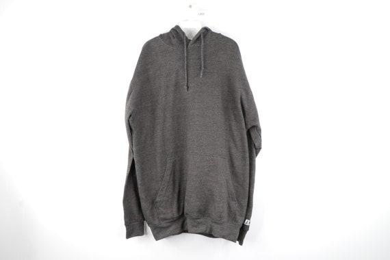 90s Russell Athletic Blank Hoodie Sweatshirt Dark