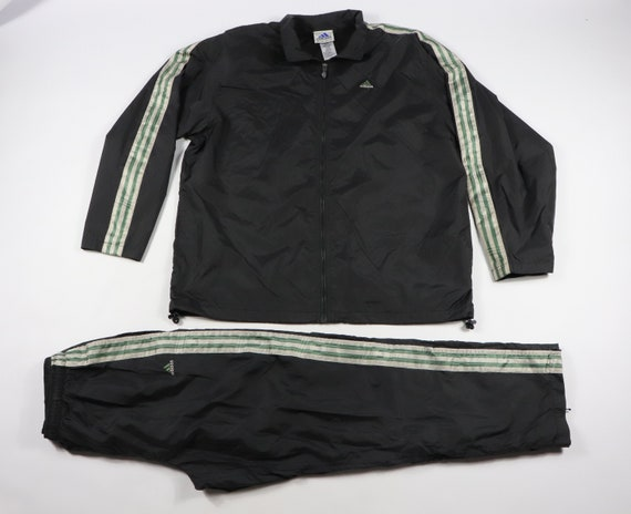 90s Adidas 3 Stripeds Spell Out Run DMC Track Suit