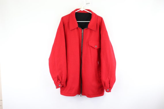 90s Marlboro Spell Out Reversible Wool Zip Up Jack