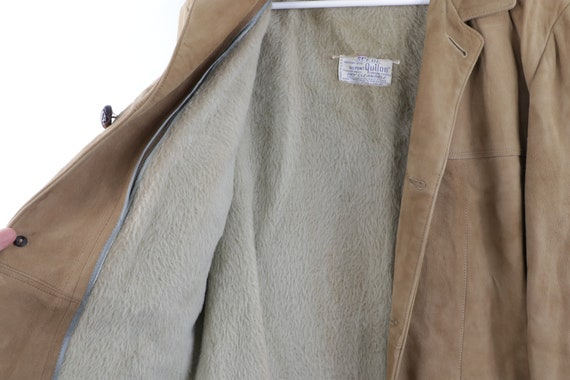 70s Rockabilly Lined DuPont Quilon Suede Leather … - image 7