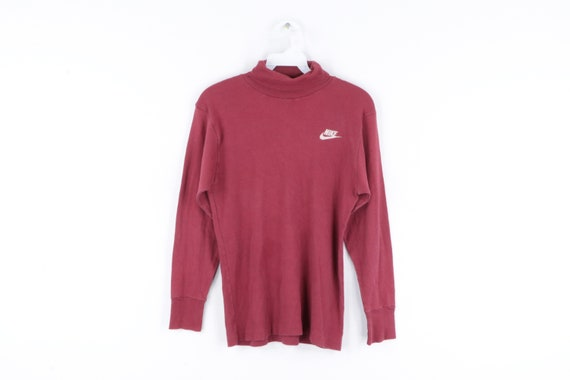 70s Nike Spell Out Swoosh Logo Turtleneck Sweater