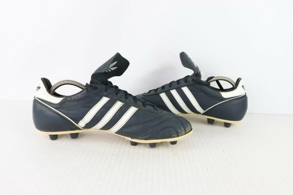0dd0129e 90s Adidas Profi Kangaroo Leather Soccer Cleats Shoes Mens 9.5 Navy Blue  Made in Germany, Vintage Adidas Soccer Cleats, 1990s Adidas Shoes