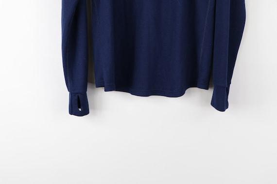 90s LL Bean Long Sleeve Half Zip Thermal Sweater … - image 8