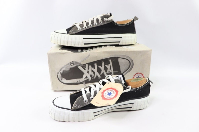 6ade1b968b334a 90s New Converse Chuck Taylor All Star Low Ribbed Sneakers Shoes Mens Size  9 Bla... 90s New Converse Chuck Taylor All Star Low Ribbed Sneakers Shoes  Mens ...