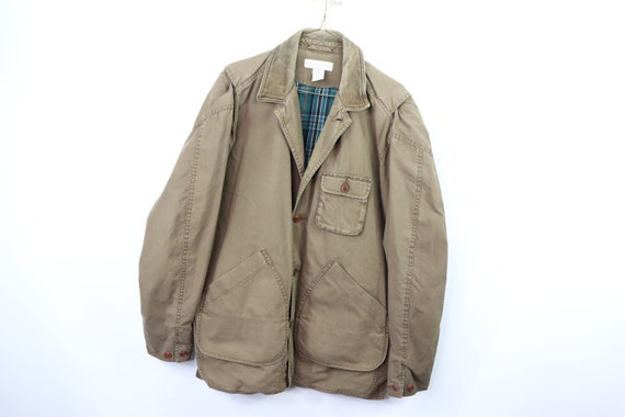 90s Banana Republic Mens Small Full Button Leather