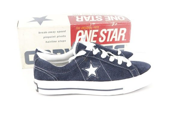 90s NOS Deadstock Converse One Star Suede Ox Snea… - image 2