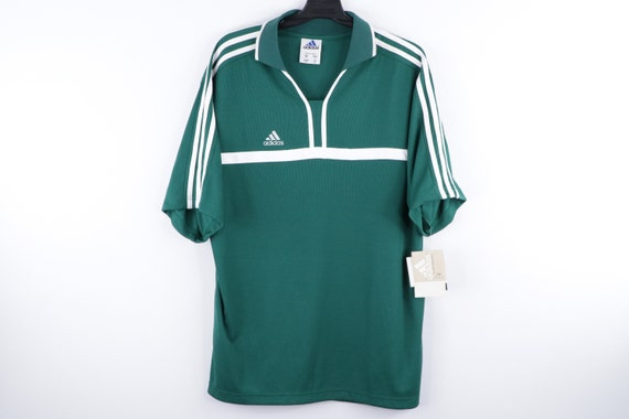 NOS 90s Adidas Spell Out Striped Stitched Soccer J