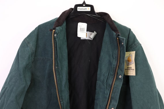 90s New Carhartt Mens Lined Corduroy Collar Chore… - image 6
