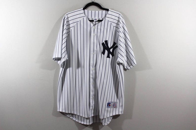 the best attitude 1c7ba 83ad0 90s Russell Athletic New York Yankees MLB Baseball Jersey White Pinstripe  Mens XL, Vintage New York Yankees Baseball Jersey, Vintage Jersey