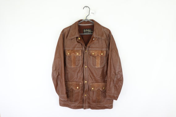 70s Sears Distressed Sherpa Lined Western Leather