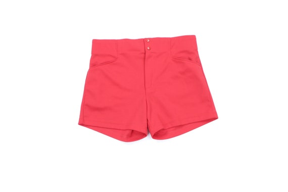 """80s Bike Spell Out 4"""" Coaches Tennis Shorts Cherry"""