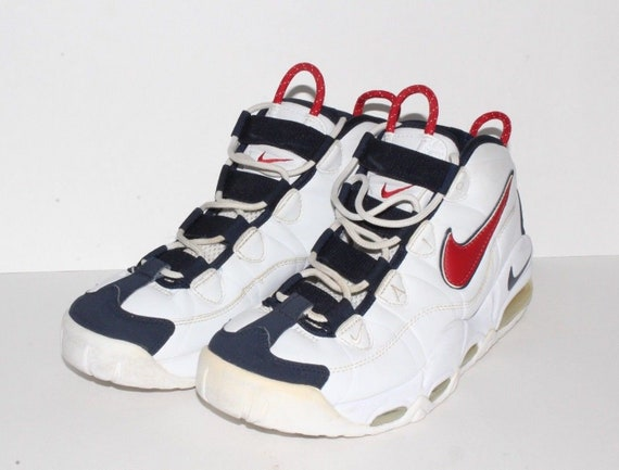 vintage Nike Air Tempo USA Basketball Sydney Australia Summer Olympics Shoes Mens 9.5 White Red Blue, vintage Nike Air Tempo Shoes, USA Shoe