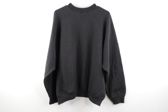 90s Streetwear Distressed Faded Blank Crewneck Sw… - image 6