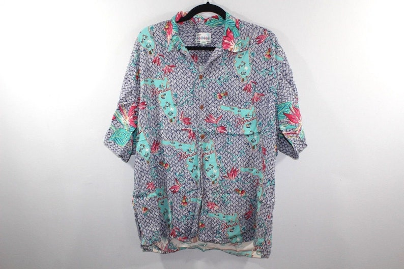 06d77fe3 90s Reyn Spooner Florida All Over Print Short Sleeve Hawaiian | Etsy