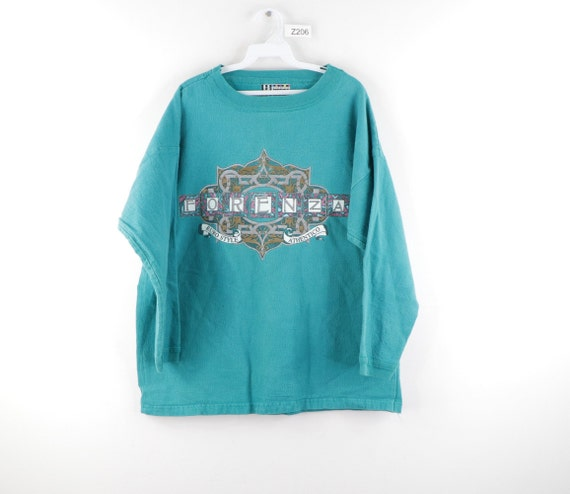 90s Streetwear Forenza Spell Out Faded Crewneck Sw
