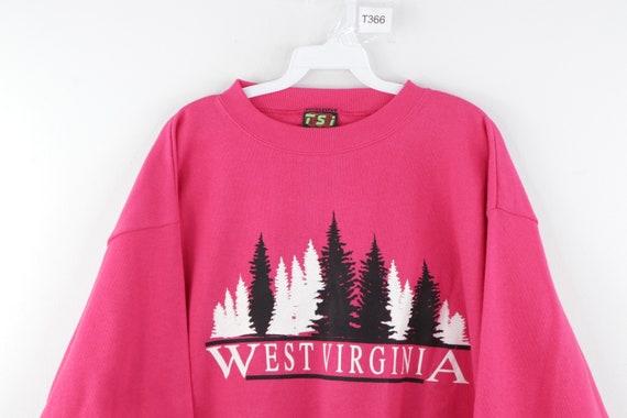 NOS 80s Streetwear Mens Large West Virginia Spell… - image 2