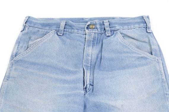 70s Sears Distressed Faded Carpenter Denim Jeans … - image 2