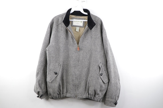 90s Orvis Corduroy Collar Wool Bomber Jacket Herri