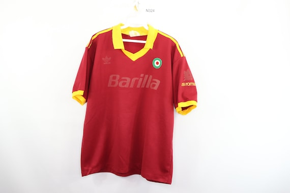 90s Adidas AS Roma Barilla Spell Out Home Football