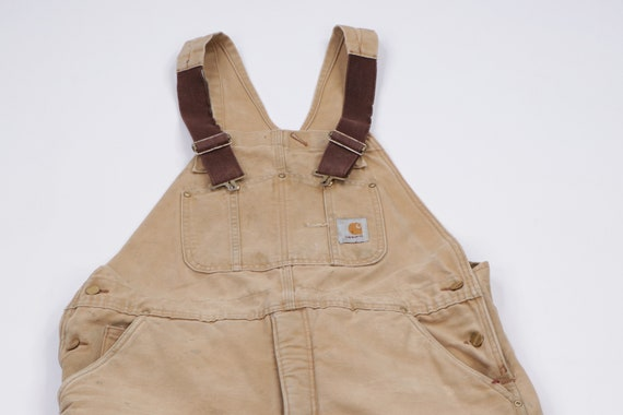90s Carhartt Spell Out Insulated Heavily Distresse